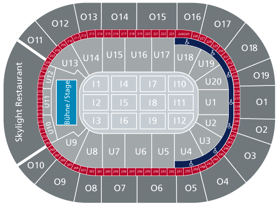 Saalplan Virtueller Sitzplan Barclaycard Arena